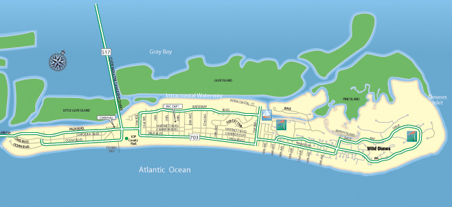 Isle Of Palms Map Isle of Palms Real Estate | Residential and Investment waterfront  Isle Of Palms Map