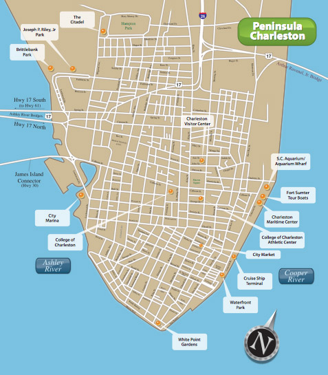 Charleston Map Submited Images