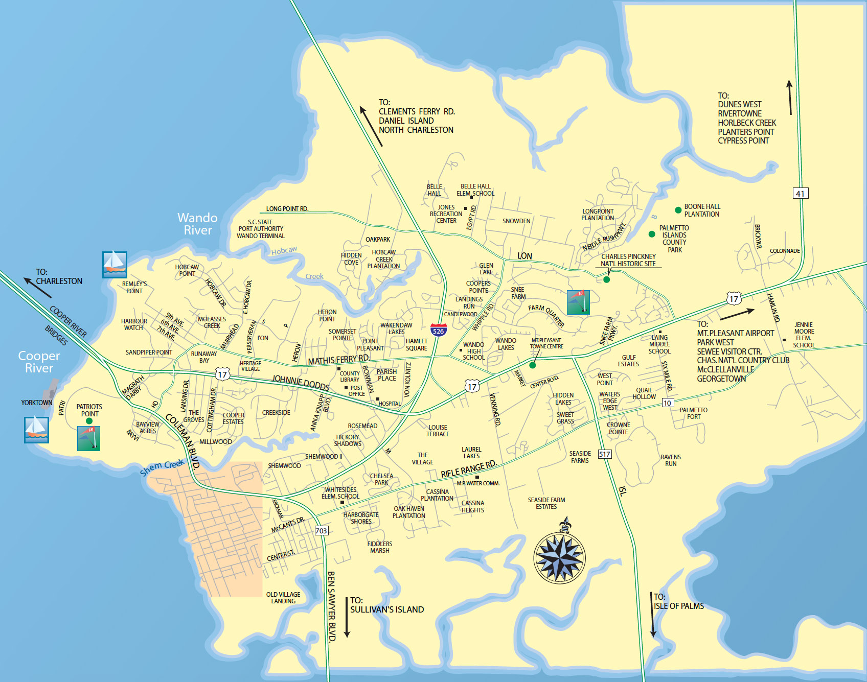 Maps of Mount Pleasant Real Estate Area Residential and Investment